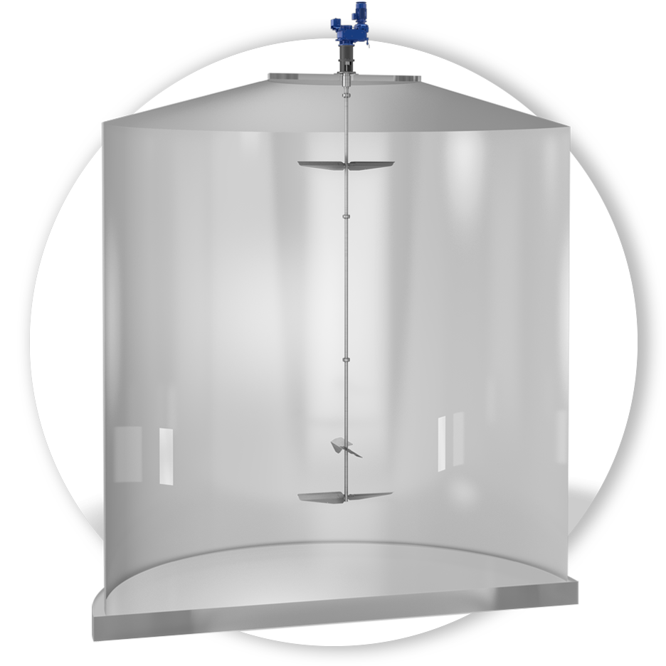 Zentralrührwerke für Biogasfermenter im Einsatz